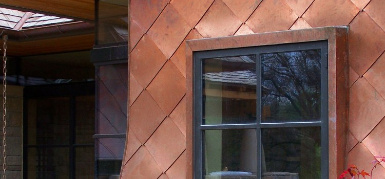 Modern Copper Clad and Stone House Design in St Louis, Missouri by Bjella Architecture