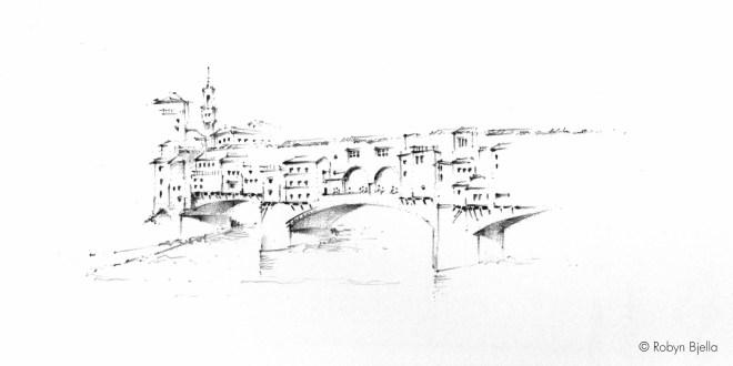 Robyn Bjella Sketch - Firenze Ponte Vecchio