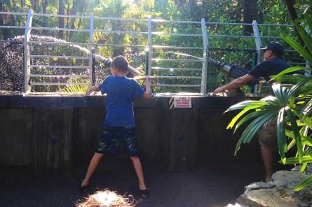 Water Canons - Beck and Tim Bjella at Universal Studios, Florida