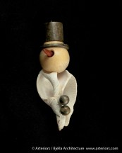 Bjella Snowman Ornament - Day 1 - Seashells-5