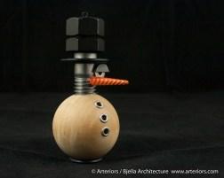 Bjella Snowman Ornament - Day 6 - Metal-5