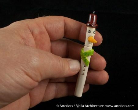 Bjella Snowman Ornament - Day 8 - Canes-4