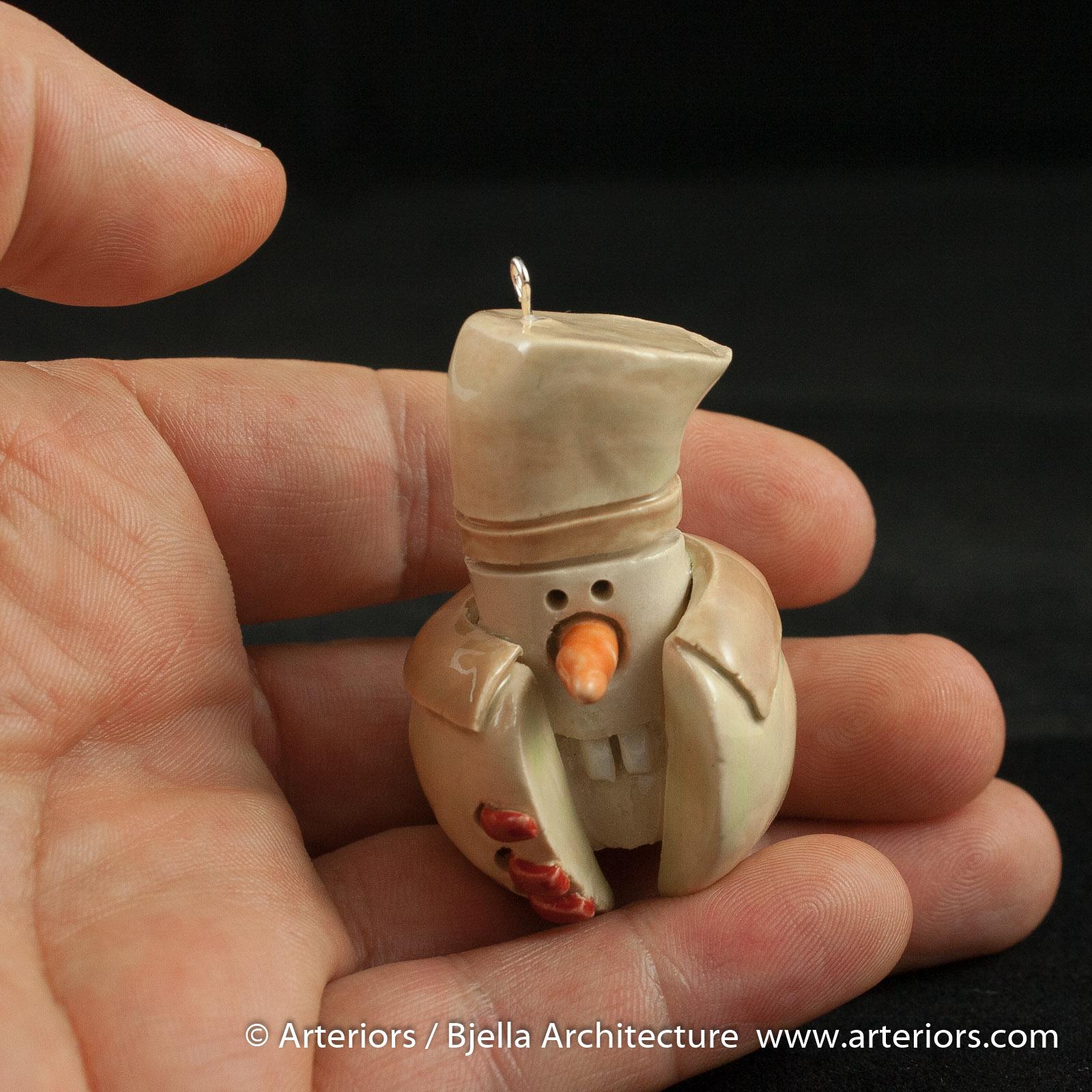 Bjella Snowman Ornament - Day 9 - Cutesy-24