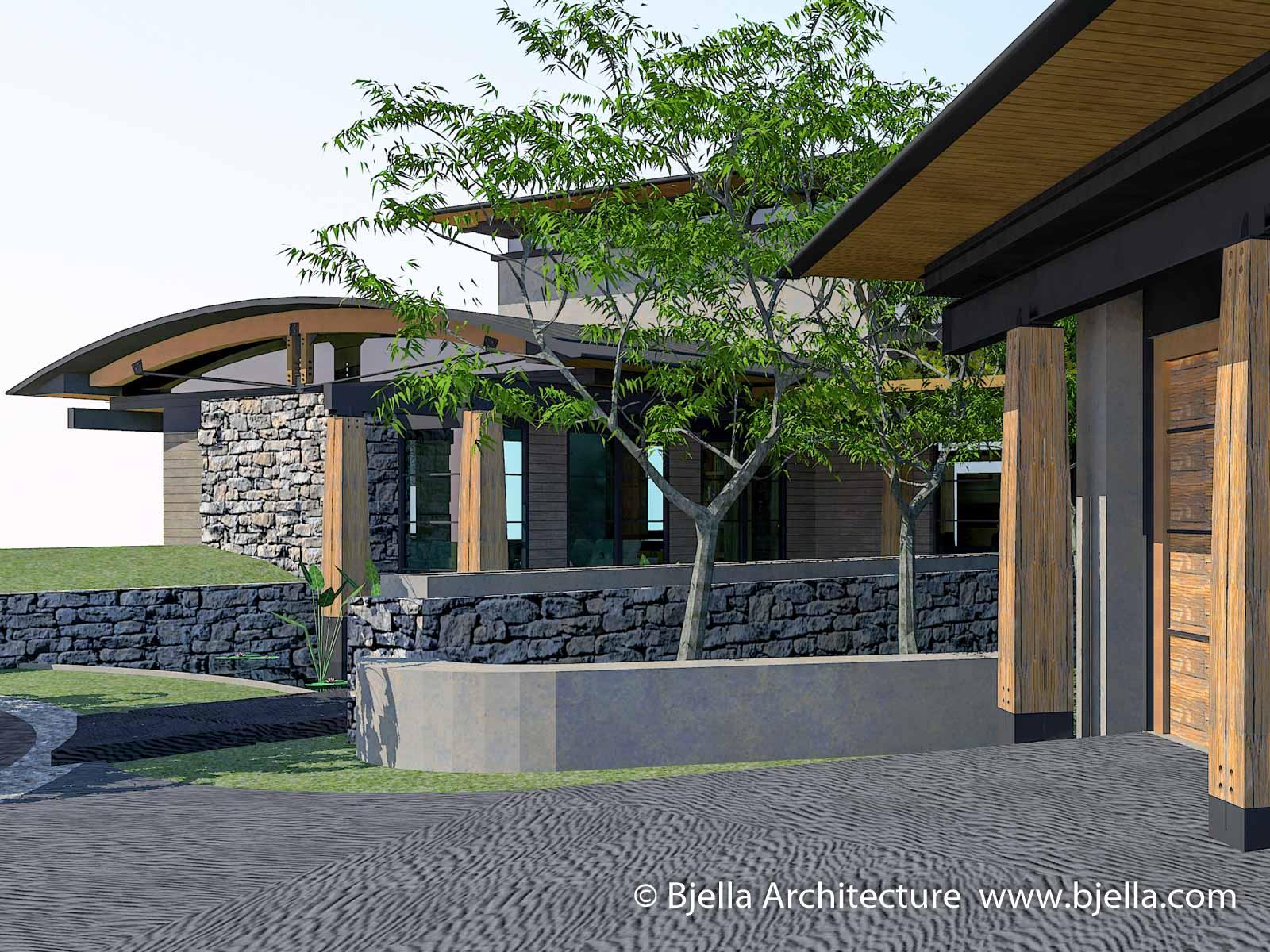 Calabasas California Modern Glass House Bjella Architects-11