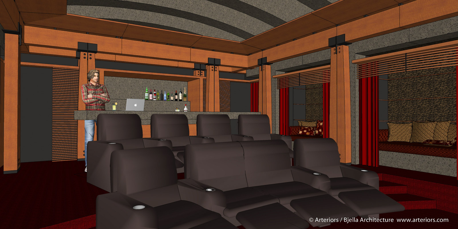 California Modern Home Theater Design by Tim Bjella - 2-5