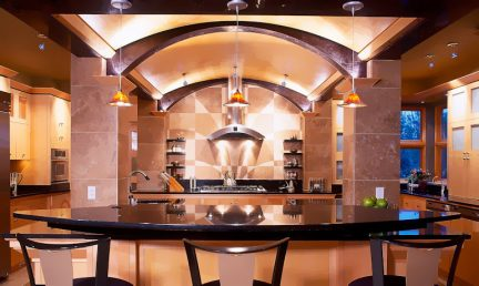 Bjella-Architects-Modern-Kitchen-Arched-Ceiling