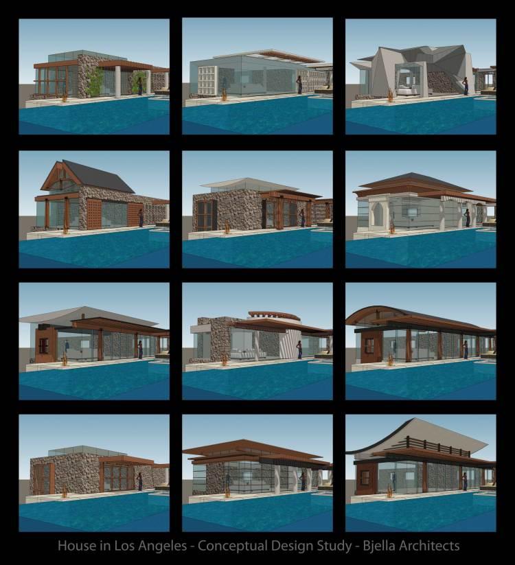 Los Angeles Modern House Design Concept Options