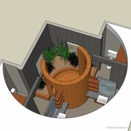 Curvy Modern Bathroom - Model from above