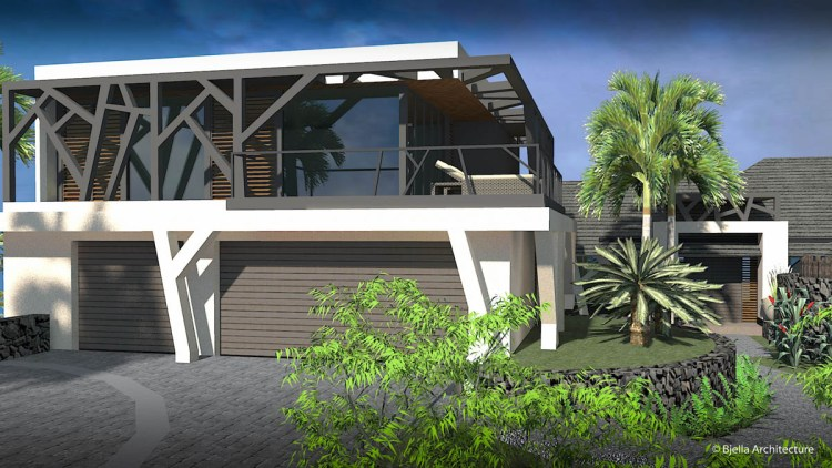 Modern Tropical Glass Home in Kauai, Hawaii by Bjella Architects