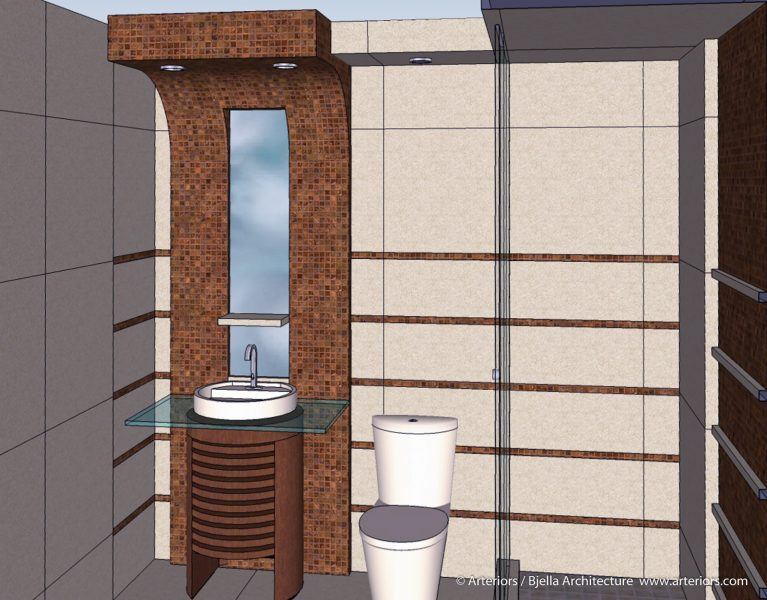 Conceptual Modern Bathroom Design 3d Architectural Model by Bjella Architects