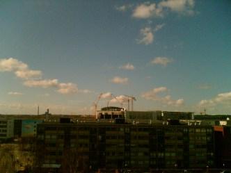 Skyen over DR-Byen, Amager. Foto: Sine Lindegaard Fogh-Nielsen