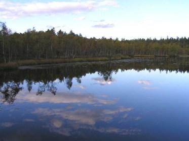 Skyen i søen ved Kosta Boda, Sverige. Foto: Jasmin S.