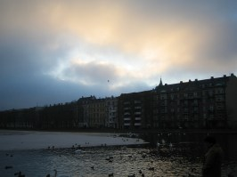 Skyen ved Søerne i København. Foto: Annette Q. Pedersen