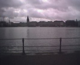 Skyen i Hamburg. Foto: Mikkel Erland Jensen
