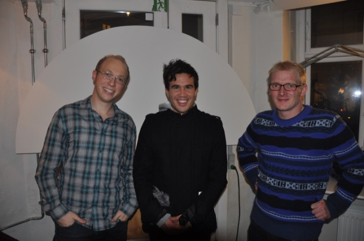 De tre oplægsholdere på Retro Universitys 2. semester: Arne Nedergaard Kousholdt, Nik Tan og Frederik Bjerre Andersen