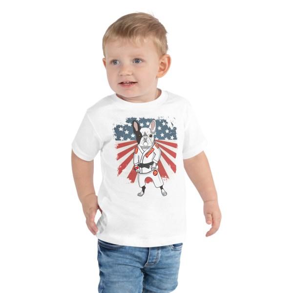 BJJ Toddler Short Sleeve Tee for kid - Brazilian Jiu-Jitsu BJJ Master French Bulldog 1