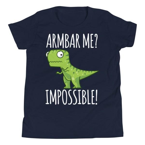 Youth/Kid BJJ T-Shirt Brazilian Jiu-Jitsu Armbar T-Rex? Not Possible 2