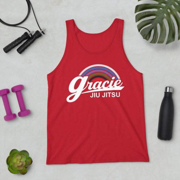 Brazilian Jiu-jitsu Gracie Academy Gracie University Jiu-jitsu -  BJJ Unisex Tank Top for men and women 4