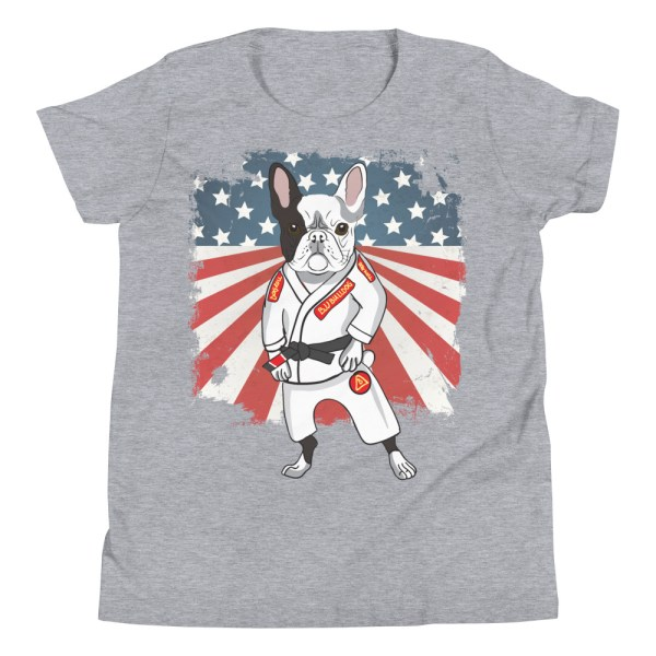 BJJ Youth T-Shirt - Brazilian Jiu-jitsu BJJ Master French Bulldog 7