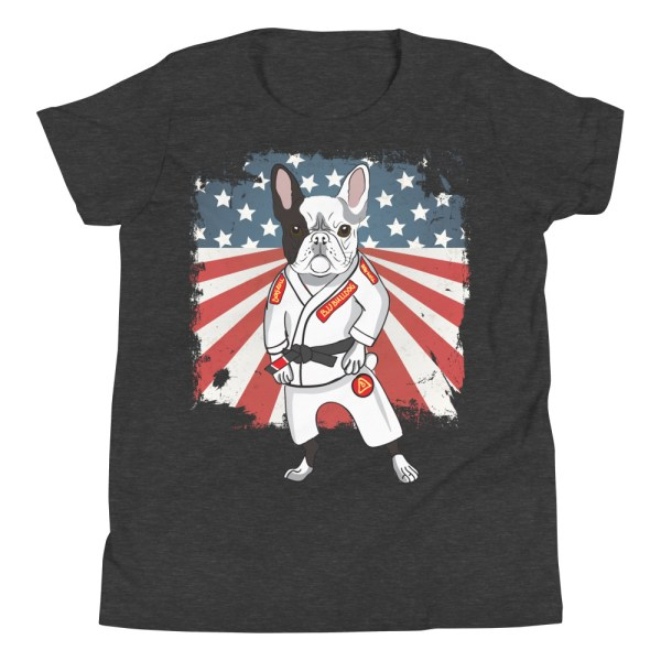 BJJ Youth T-Shirt - Brazilian Jiu-jitsu BJJ Master French Bulldog 5