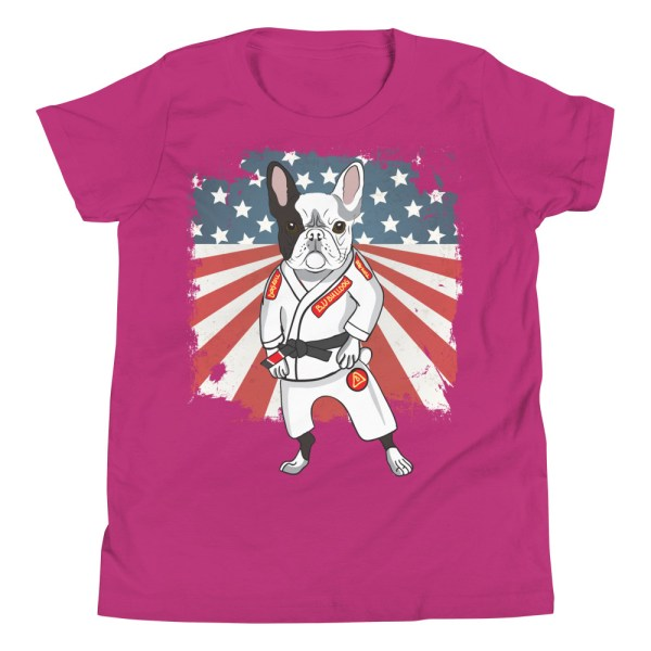 BJJ Youth T-Shirt - Brazilian Jiu-jitsu BJJ Master French Bulldog 10