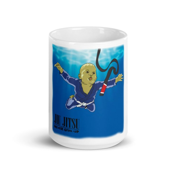 BJJ Coffe Mugs - Nerver give up and you will get black belt 3