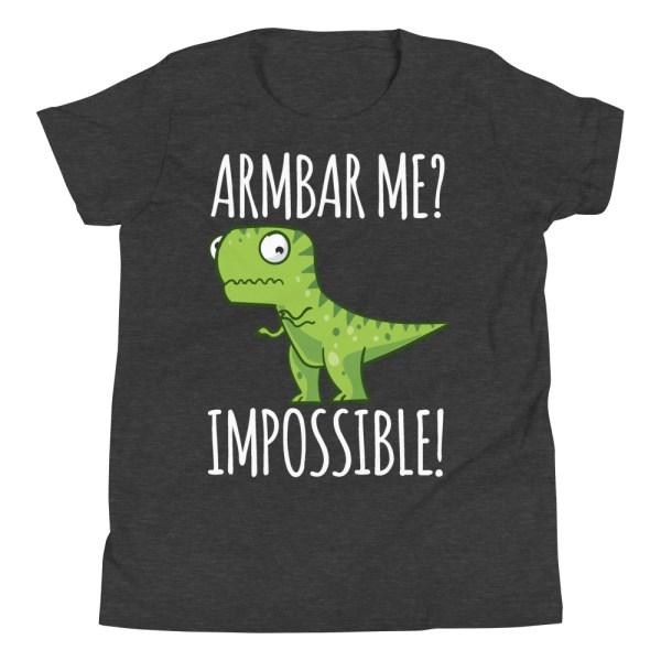 Youth/Kid BJJ T-Shirt Brazilian Jiu-Jitsu Armbar T-Rex? Not Possible 3