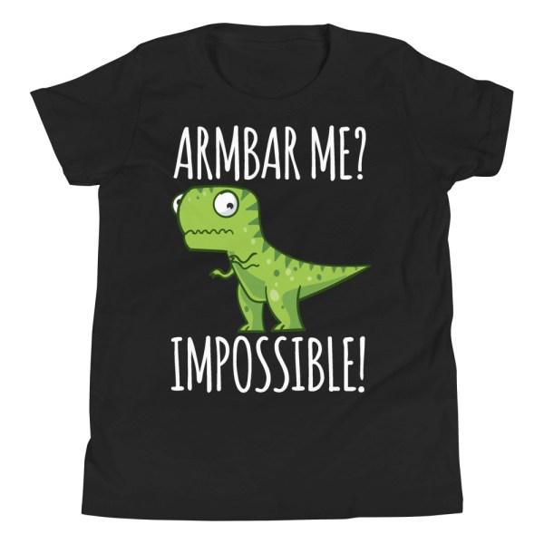 Youth/Kid BJJ T-Shirt Brazilian Jiu-Jitsu Armbar T-Rex? Not Possible 1
