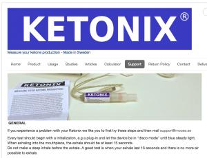 Ketonix website