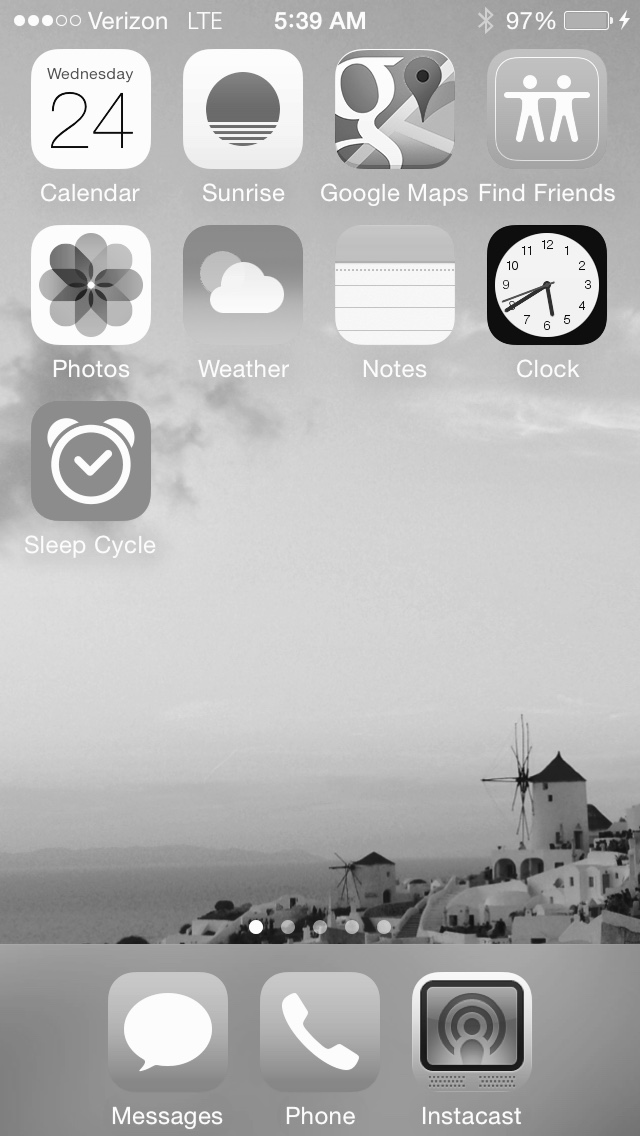 Does the new iOS 8 grayscale feature for the iPhone use blue light? - The BJJ Caveman