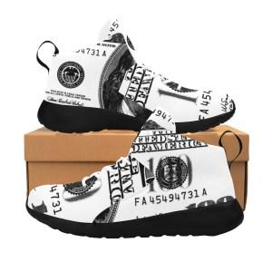 100 Dollar Bill Shoes White