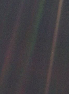 Voyager's 'Pale Blue Dot' photo by NASA