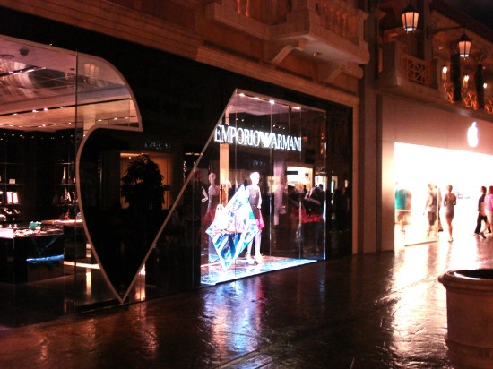 Armani and Apple Stores in Las Vegas