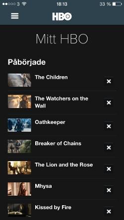 iOS: Mitt HBO