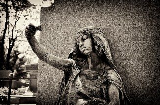 Statue in Montmartre Cemetary