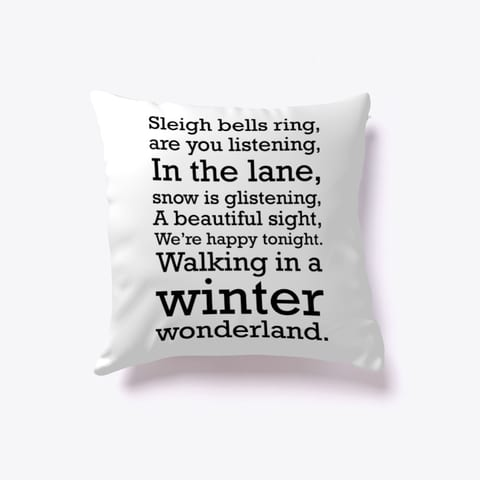 Walking in a Winter Wonderland Throw Pillow