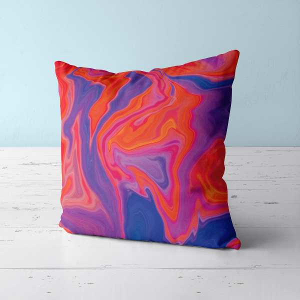 Red Hot Marble Throw Pillow