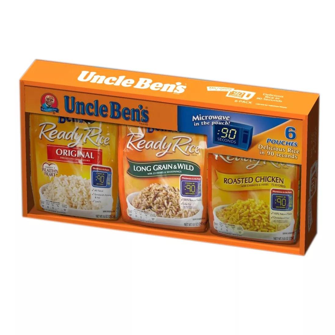 uncle ben s ready rice value assortment box 6 ct 8 8 oz