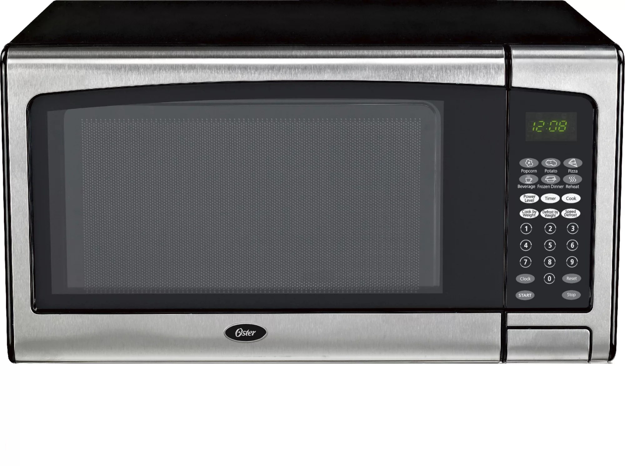 oster 1 3 cu ft countertop microwave stainless steel trim