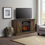Chatham Barn Door Fireplace Tv Stand Console Bjs Wholesale Club