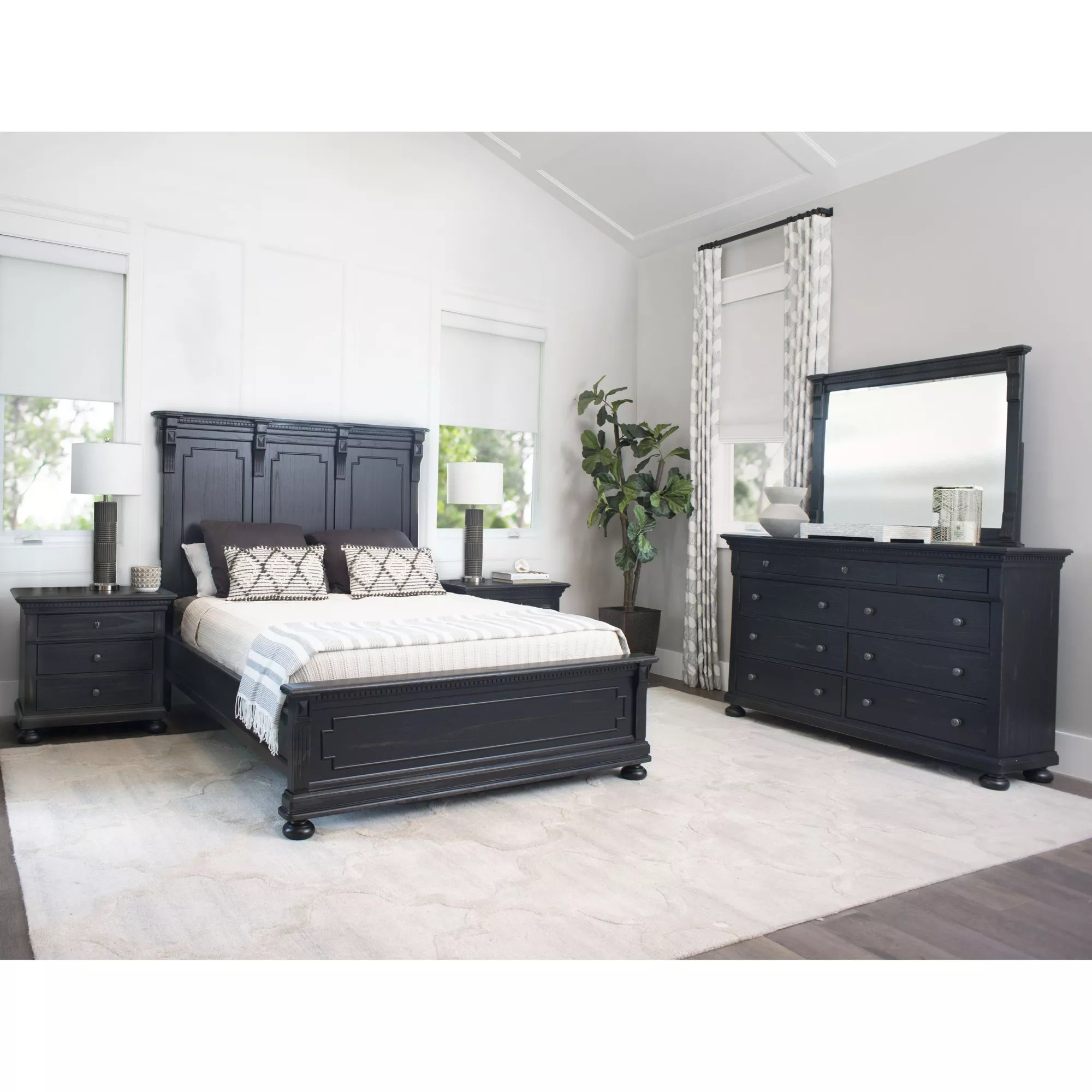 abbyson living hartford 5 pc king size bedroom set black