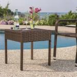 Berkley Jensen Wicker Patio Side Table Dark Brown Bjs Wholesale Club