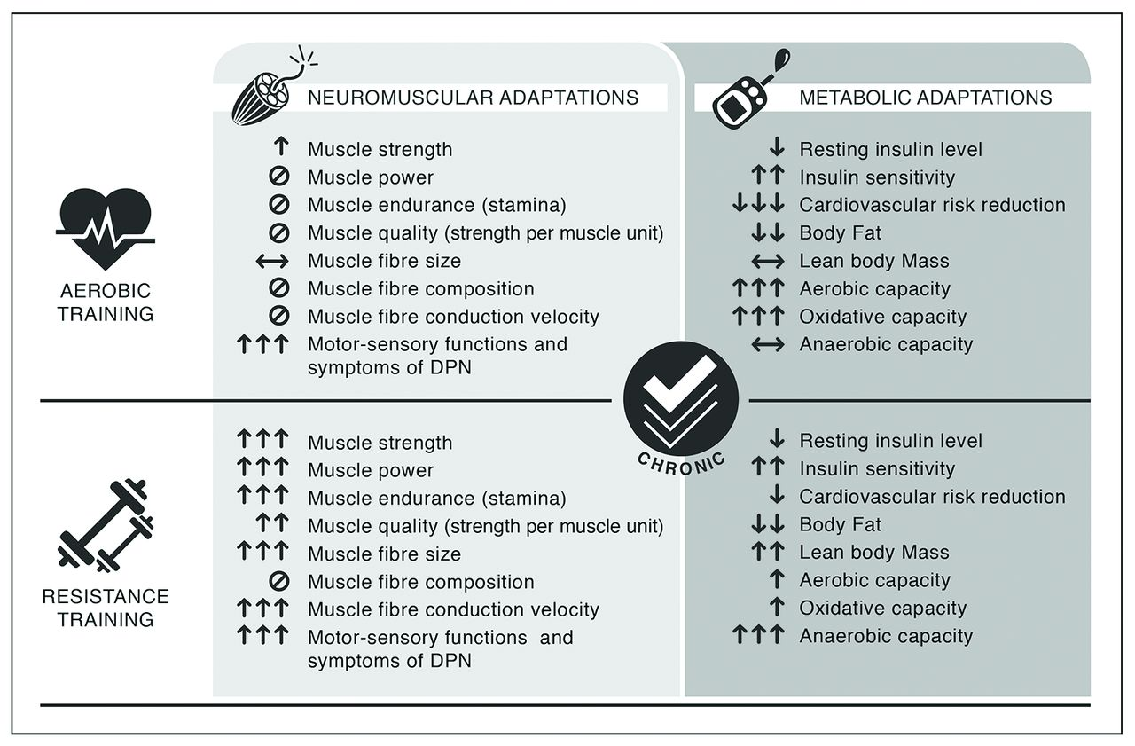 Exercise In Type 2 Diabetes Genetic Metabolic And Neuromuscular Adaptations A Review Of The Evidence British Journal Of Sports Medicine
