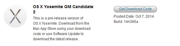 OS X Yosemite GM Candidate 2