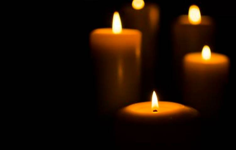 Memoriam candles light RIP Death