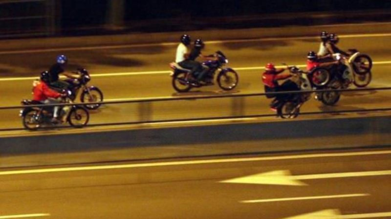mat rempit enforcement menace motorcyclist skinning ops sikap