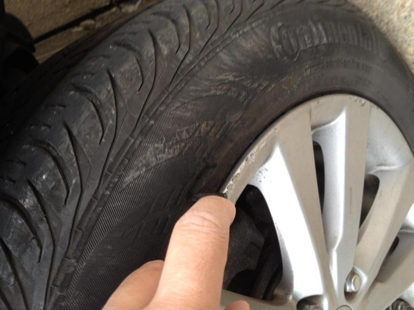 tire sidewall car