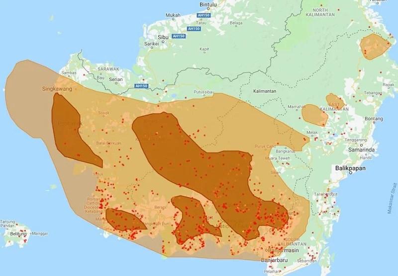 Indonesia Fire Hotspots Kalimantan
