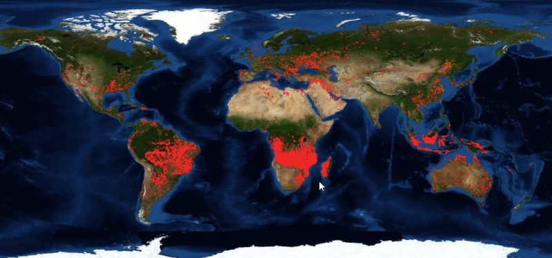 Fire Hotspot World