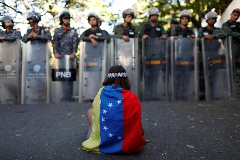 Venezuela refugees economy protest
